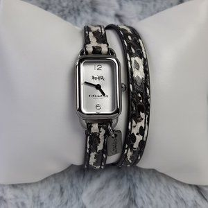 Coach Women's Ludlow Double Wrap Watch Snakeskin